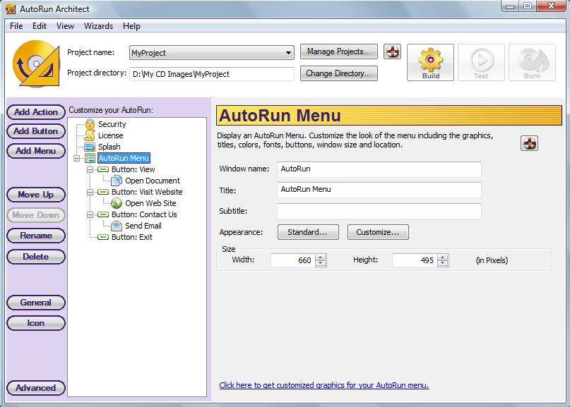 Click to view AutoRun Architect 2.20 screenshot